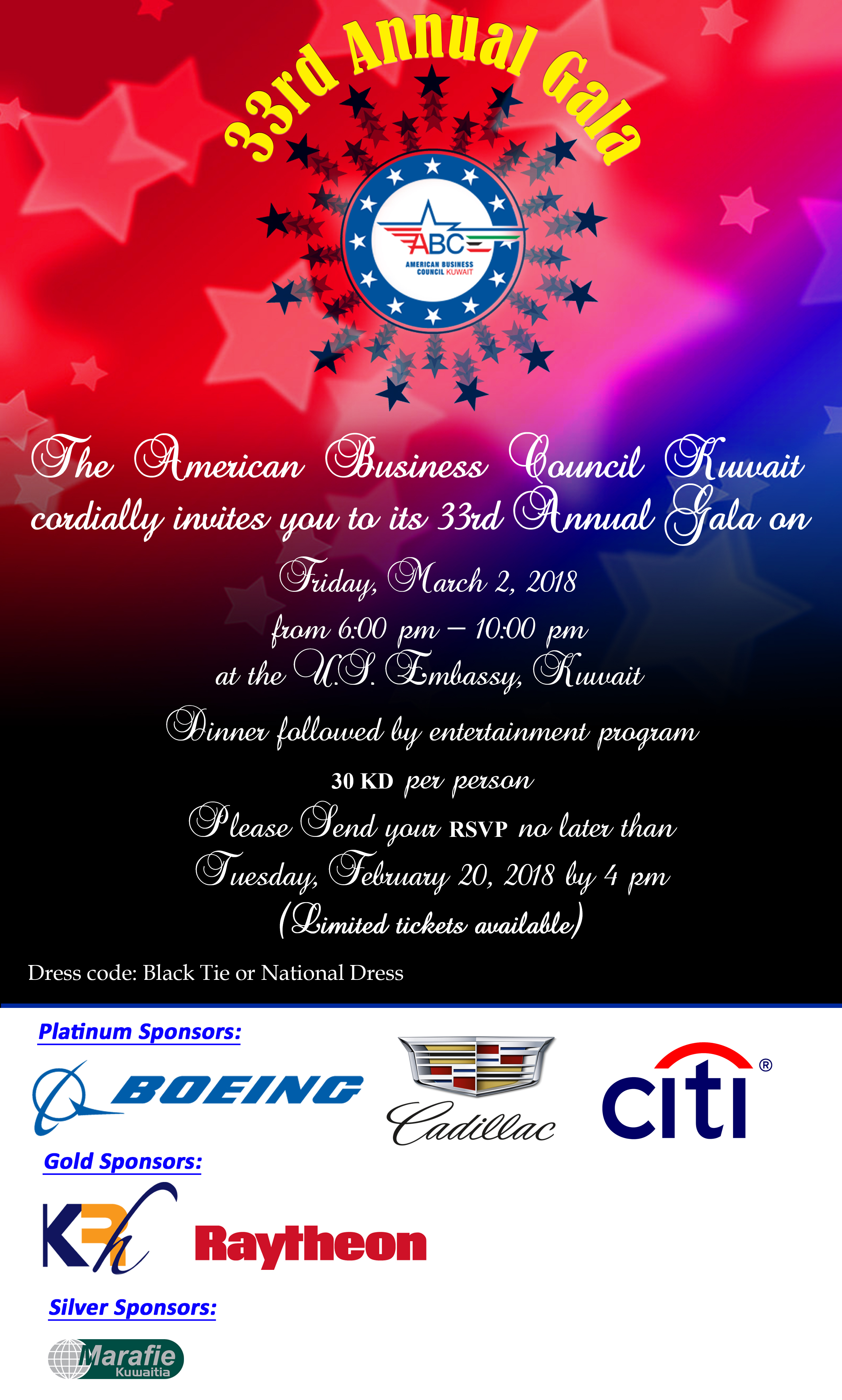 ABCK 33rd Annual Gala - American Business Council - Kuwait